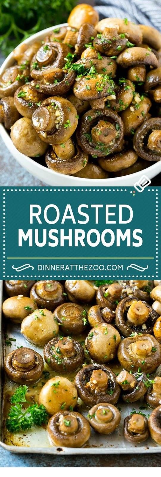 Roasted Mushrooms in Garlic Butter