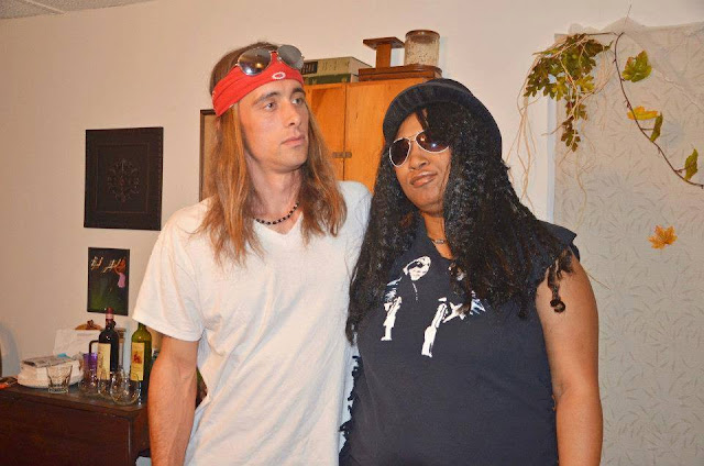 Axl Rose and Slash Halloween costumes