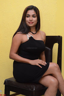 Vrushali Gosavi in strapless Short Black Dress At Follow Follow U Audio Launch 030.JPG