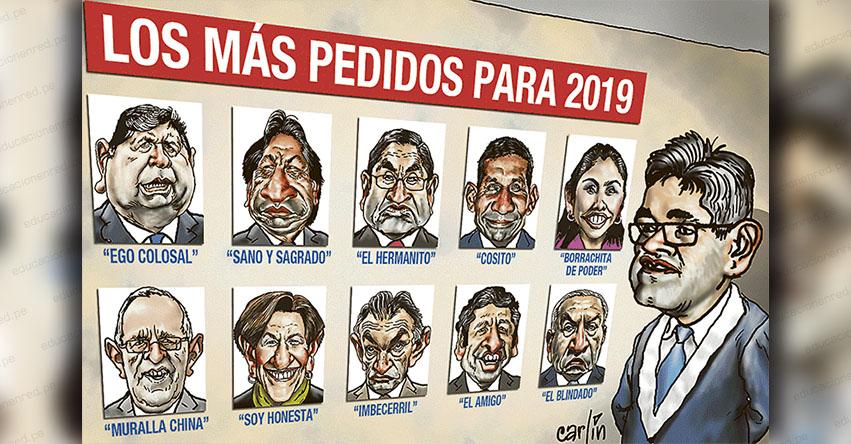 Carlincaturas Lunes 31 Diciembre 2018 - La República