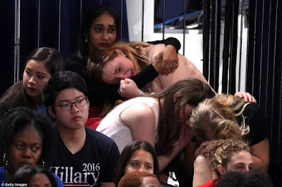 Image result for liberal left hillary supporters crying