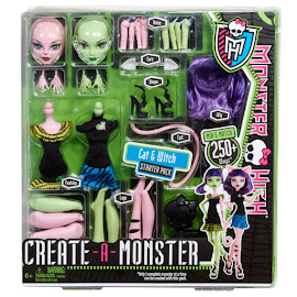 MH Create-a-Monster Cat & Witch Doll