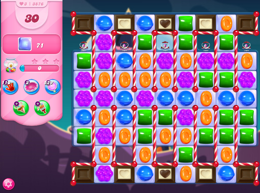 Candy Crush Saga level 3876