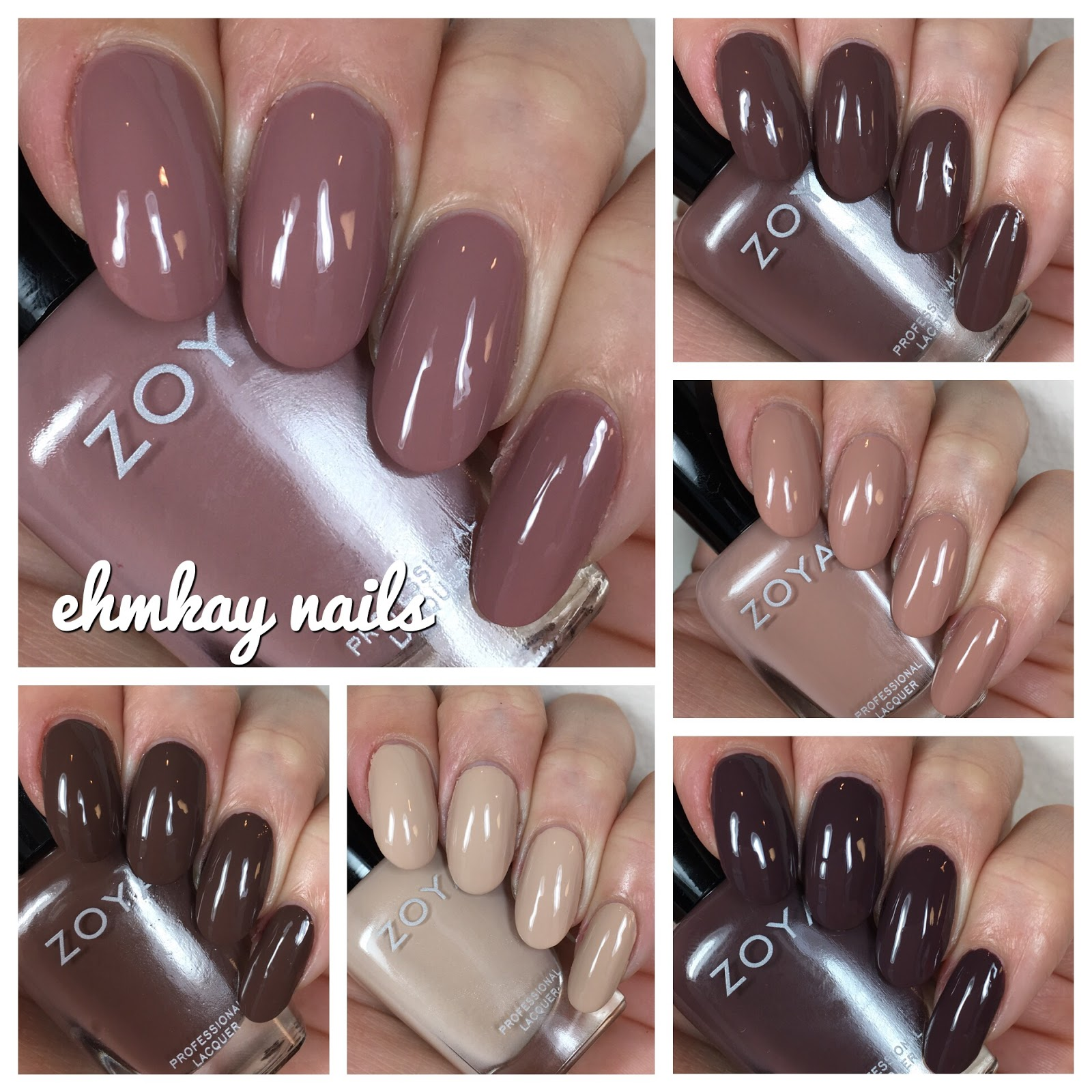 ehmkay nails: Zoya Naturel (3) Swatches and Review