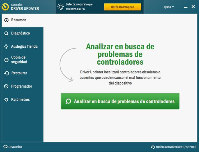 Auslogics Driver Updater Versión Pro Full Español