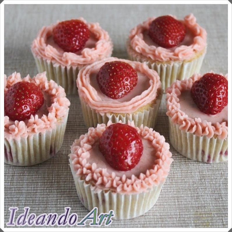 Cupcakes de fresas