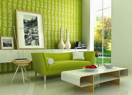 Gambar Wallpaper Dinding Ruang Tamu minimalis