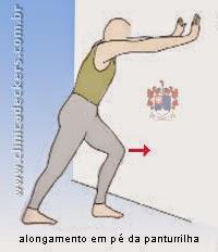 Distensão da Musculatura da Panturrilha - Alongamento em pé da panturrilha