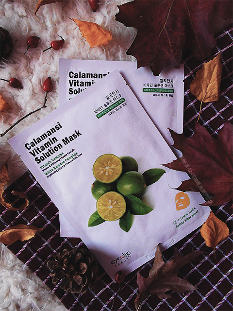 Calamansi Vitamin Solution Sheet Masks review