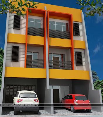 contoh gambar model ruko minimalis 2 lantai modern ~ kamar