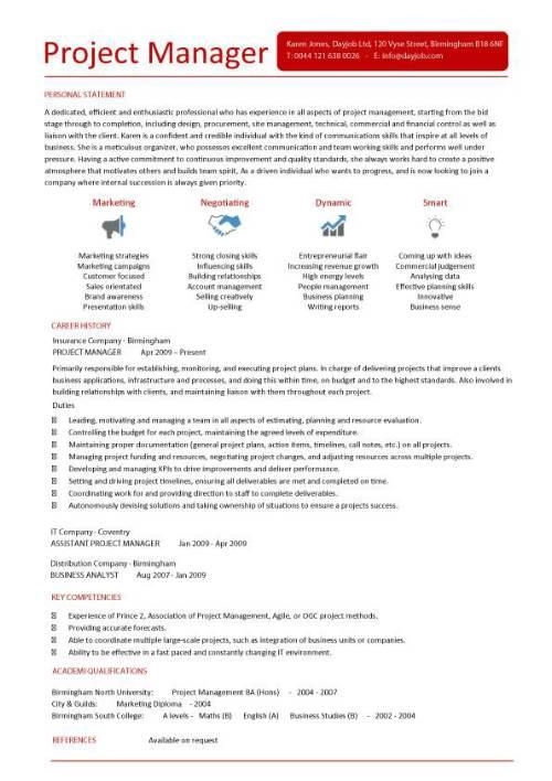 Sample Program Manager Resume Sample Resumes