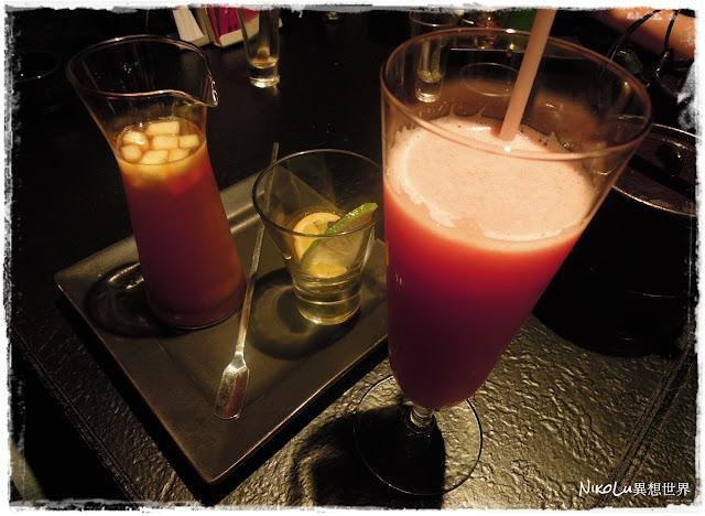 番茄汁、 冰水果茶