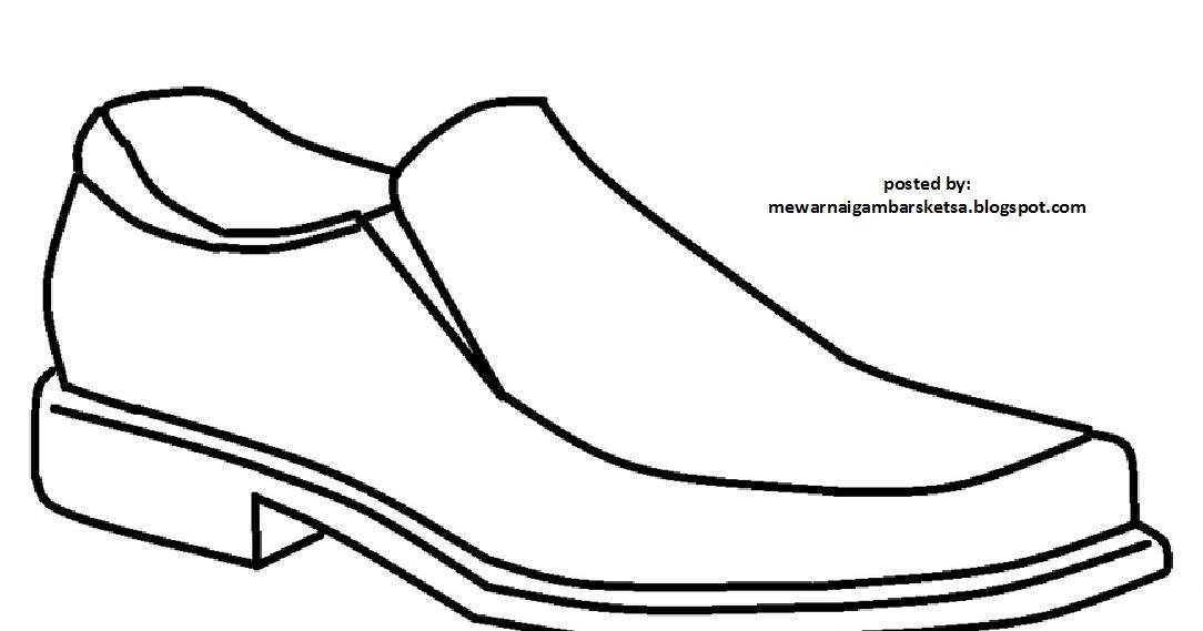 Mewarnai Gambar Mewarnai Gambar Sketsa Sepatu 3