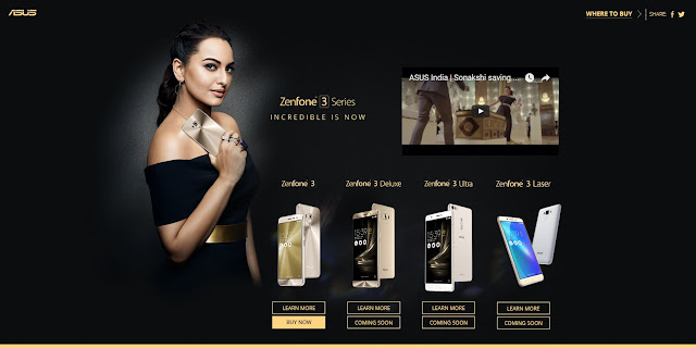 Sonakshi with ASUS ZenFone 3