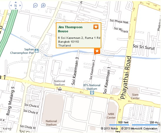 Jim Thompson House Bangkok Location Map,Location Map of Jim Thompson House Bangkok,Jim Thompson House Bangkok Accommodation Destinations Attractions Hotels Photos Pictures,jim thompson house museum bangkok outlet fabrics restaurant wedding silk