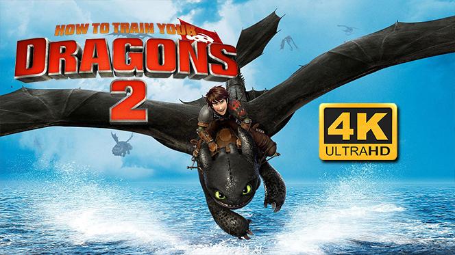 Cómo Entrenar a tu Dragón 2 (2014) 4K UHD 2160p Latino-Castellano-Ingles