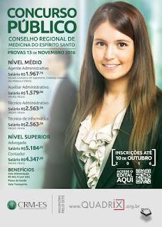 Concurso  CRM-ES - Conselho Regional de Medicina do Estado do Espírito Santo 2016