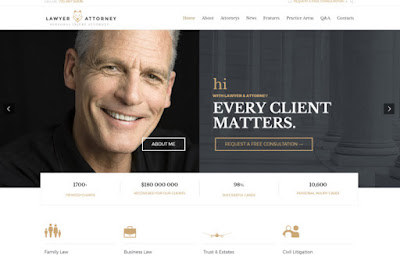 Template for lawyers legals services website