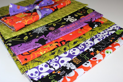 recently acquired Halloween fabric for a quilt