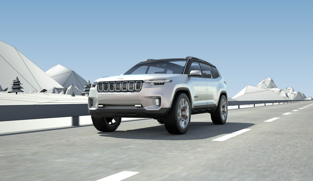 Jeep yuntu concept blends rugged styling with a high tech interior photo gallery vanachro Gallery