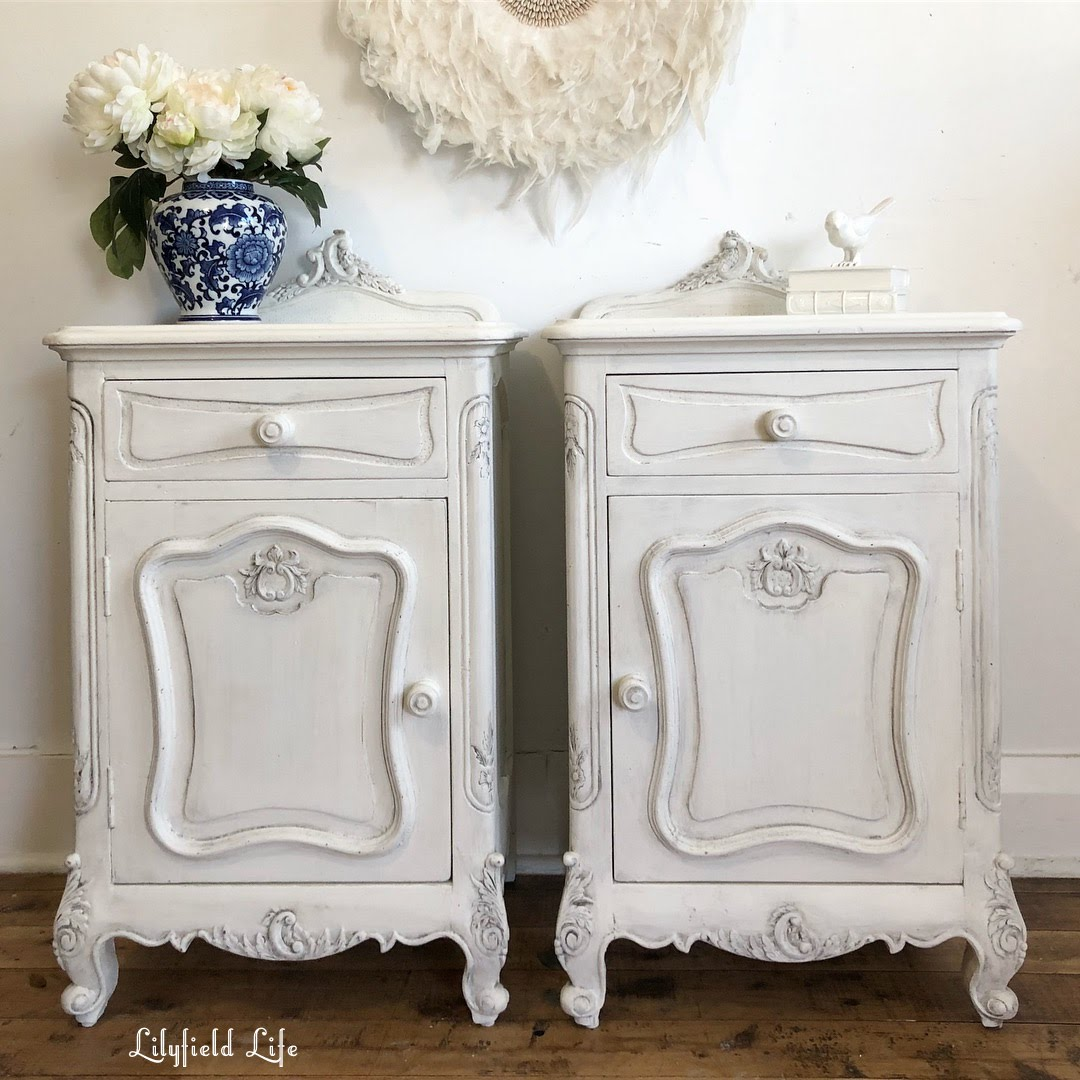 Provincial Bedside Tables Lilyfield Life French Provincial Bedsides And Drawers