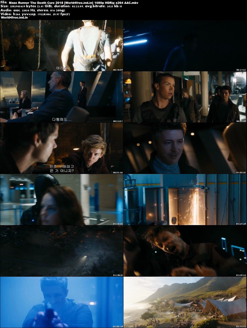 online worldfree4u Maze Runner: The Death Cure 2018 English Movie Download HDRip 720p