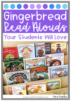 Gingerbread read alouds, mentor texts, and books perfect for 1st - 3rd grade classrooms.