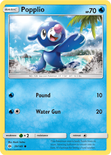 Popplio Sun and Moon Pokemon Card