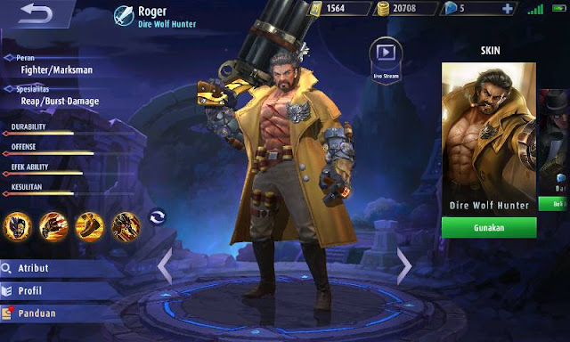 Guide Roger Mobile Legends Manusia Serigala Terkuat