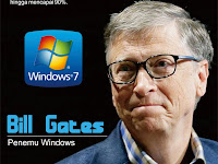 Design Poster Penemu Windows (Bill Gates) Jurusan TKJ
