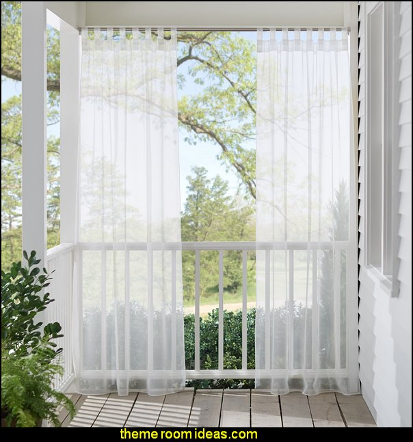 Appleton Oudoor Sheer Single Curtain Panel