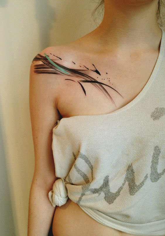 collar bone tattoos