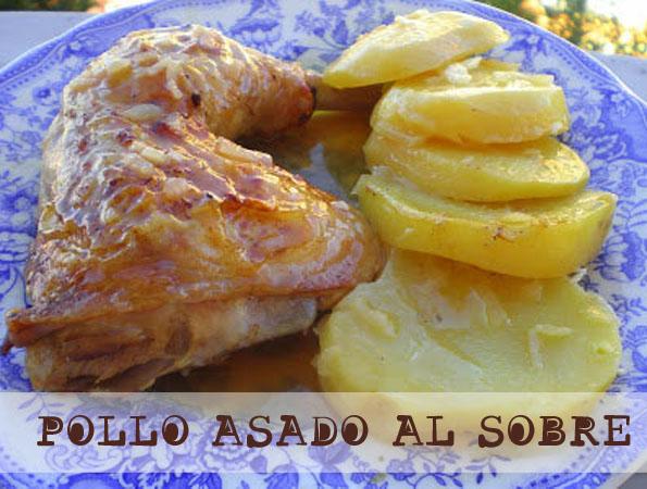 Pollo asado al sobre la cocinera novata cocina receta gastronomia horno aves sopa de sobre cebolla