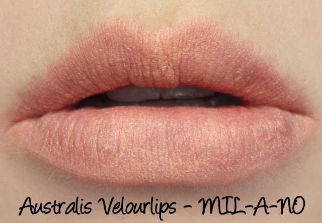 Australis Velourlips Matte Lip Cream - MIL-A-NO Swatches & Review