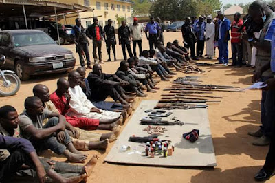 Photos: Bauchi Police parades crime suspects, gang that robbed man of N600K and shot his wife dead and others