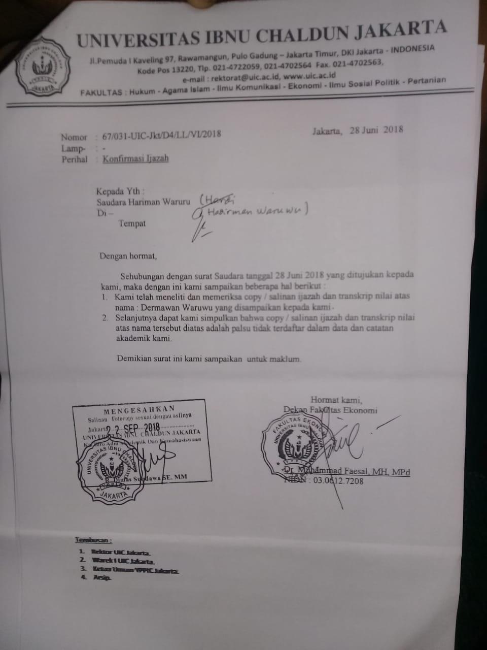 Diduga Gunakan Ijazah Palsu Kepala Desa Sihareo Sogaeadu