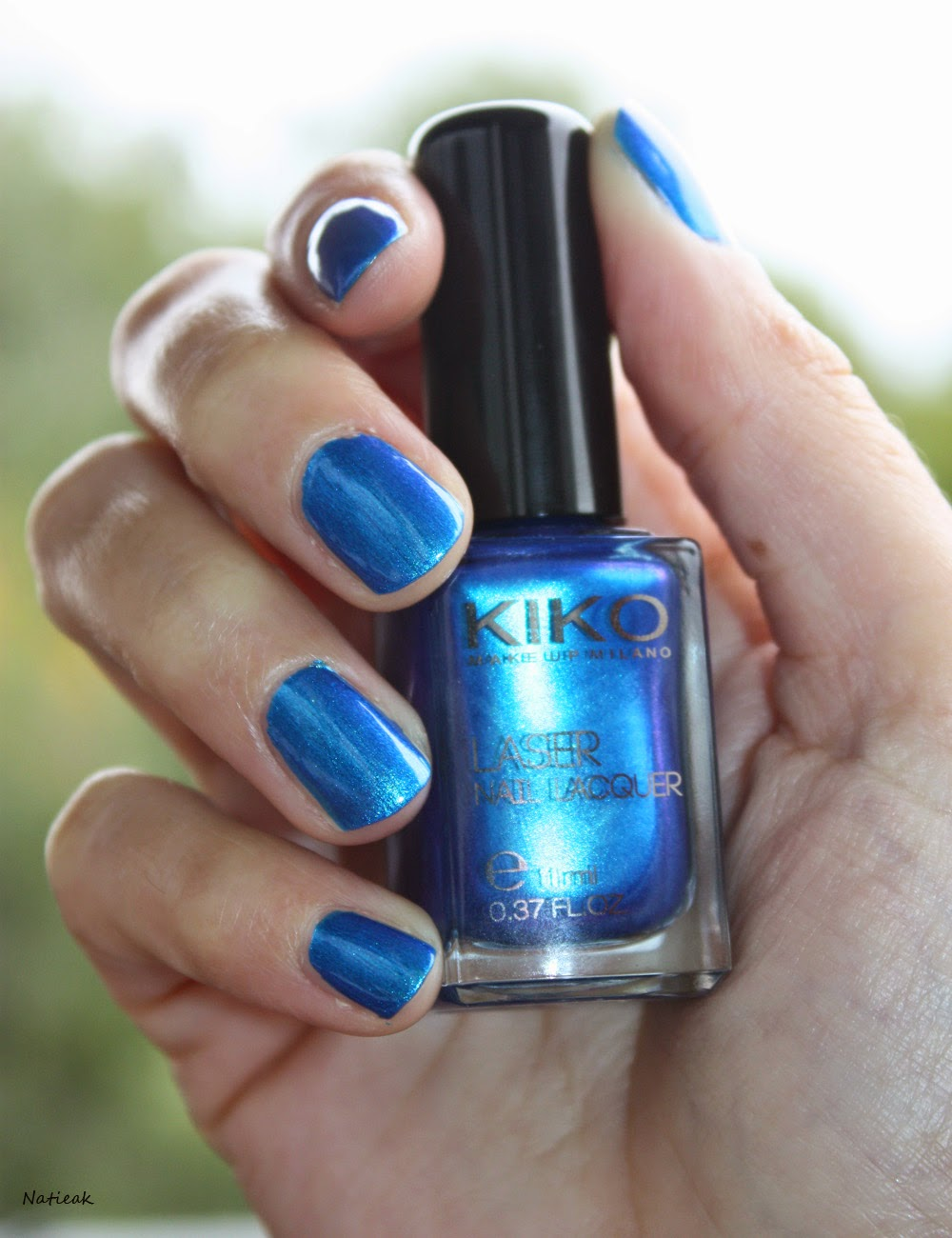 vernis à ongles Kiko 434  Psychedelic blue