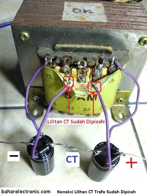 Cara Menyambung Trafo Ke Power : menyambung, trafo, power, Power, Supply, Simetris, Bridge, Amplifier, Bahar, Electronic