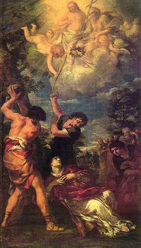 Imagen del martirio de San Esteban