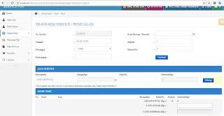 Program Servis dan penjualan sparepart komputer dengan PHP MySql