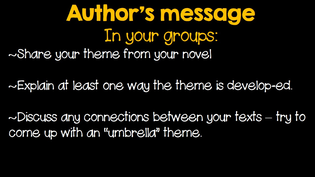How does an author develop a theme?