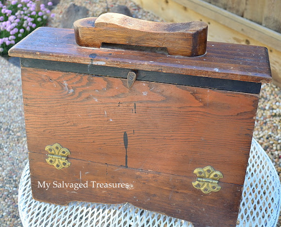 transform an old shoe shine box