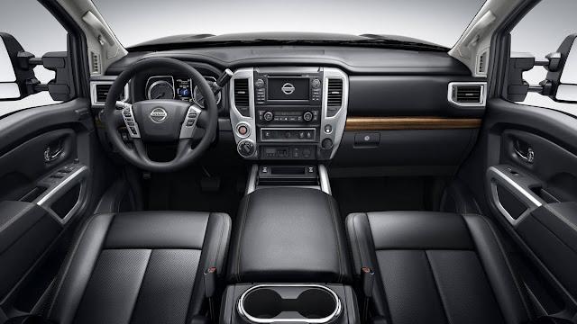 new Titan XD Nissan's price new Titan XD Nissan's starts at $41,485,  interior dashboard view