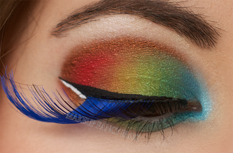 Fancy eye makeup