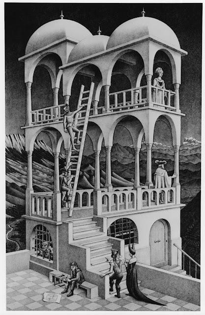 """""""Las escaleras de Belvedere"""", Capítulo II - El montaje de la escena."""