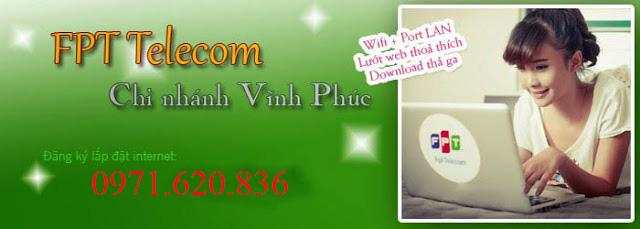 Lắp Mạng Internet FPT Xã Định Trung, Tp Vĩnh Yên