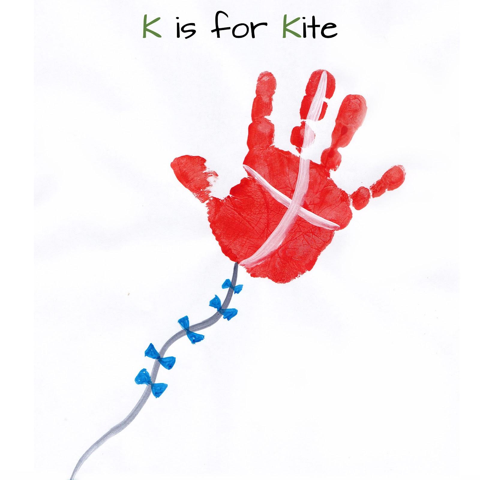 Mommy minutes alphabet handprint art for Letter k crafts for toddlers