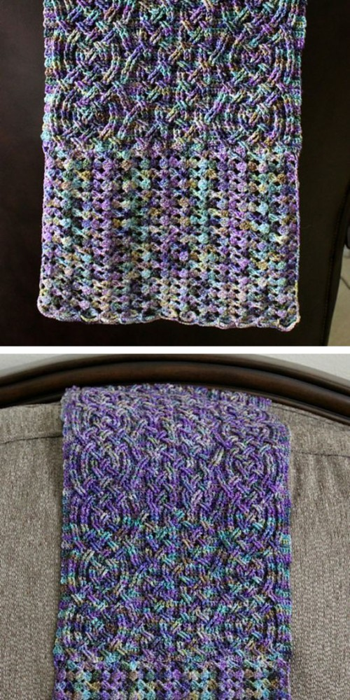 Stonehaven Cable Shawl - Tutorial