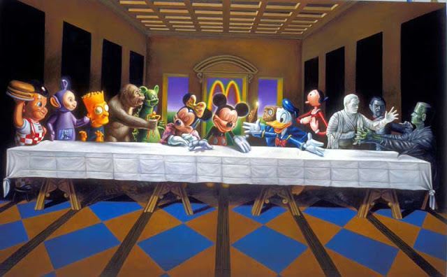 Ron English, Last Supper Icons, 2011