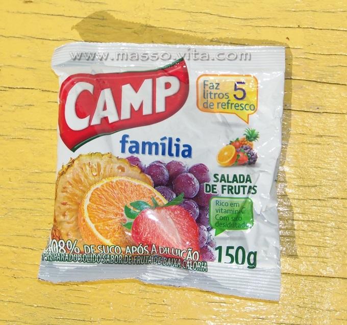 Refresco em pó Camp Família  Salada de Frutas